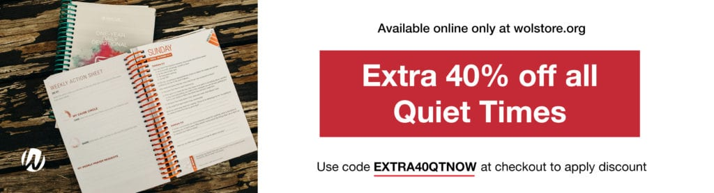 Quiet Time Discount EXTRA40QTNOW at checkout on wolstore.com